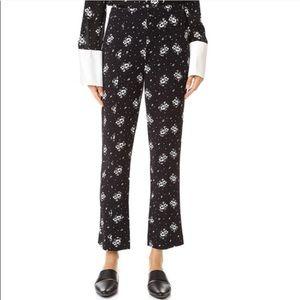 Cinq a Sept Stardust Onyx Floral Cropped Pants
